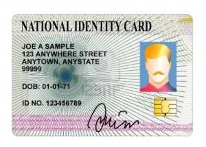 National ID Card # 1