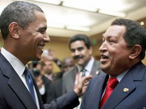 Hugo-Chavez-and-Obama